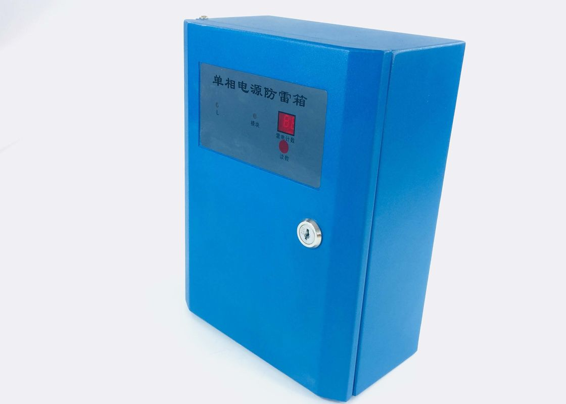 Safe Single Phase Surge Protector Box With Lightning Counter Indicator