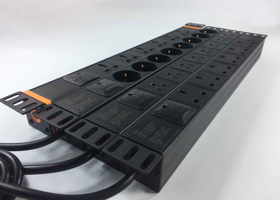PC Surge Protector Power Bar , Industrial Cabinet Rack Mount Power Strip Multi - Purpose