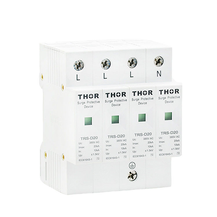Power lightning arrester 20KA surge protection SPD ac 220v surge protector