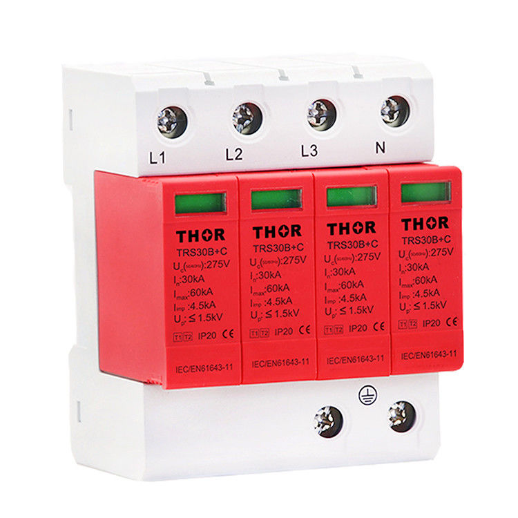 Overvoltage Type 1 Surge Protection Device Low Output Residual Pressure Stable Performance
